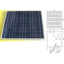 Module solaire polycristallin de panneau solaire de 12V 18V 50W avec TUV IEC61215 IEC61730