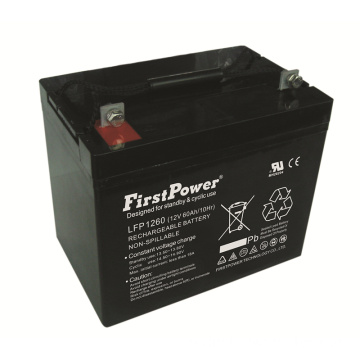 Reserv Deep Cycle Battery 12V60AH Vindkraft Batteri