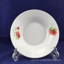 placa de porcelana hecha a medida, plato de porcelana barato, plato de sopa