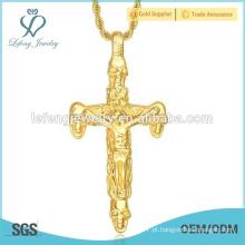 China preço barato jóias banhado a ouro pingente de colar de aço inoxidável para os homens