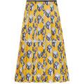 New Fashion Plissee Gedruckt Seide-Twill Midi Täglichen Rock DEM / DOM Herstellung Großhandel Mode Frauen Bekleidung (TA5001S)