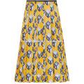 New Fashion plissé imprimé en sergé de soie Midi jupe quotidienne DEM / DOM fabrication en gros de mode femmes vêtements (TA5001S)