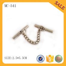 MC541 Zink-Legierung Fabrik direkt Verkauf Kleid Metallkette Tag