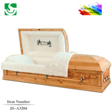 finest almond veneer priced casket