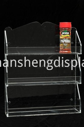 Clear Acrylic Kitchen Wall-mountable Spice Rack