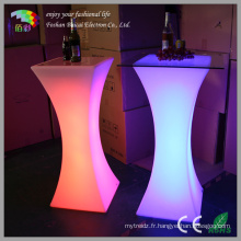 Table de bar incandescent LED