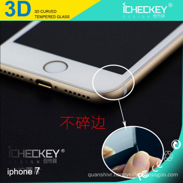 3D Curved Wholesale Anti-Fingerprint soft Tempered Glass Screen Protector For iphone 7 Plus