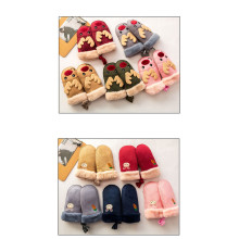 Winter cartoon suede gloves for boys and girls