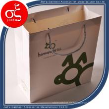 Bolso de papel de encargo del embalaje de la ropa para la promoción
