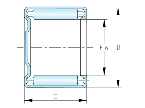 Drawn Cup Needle Bearings NAO Series