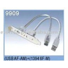 USB+ IEEE1394 PANEL CABLE