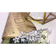 2020 New Design big rhinestone zircon bridal hair comb