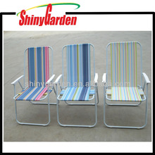 Beach Chair With Armrest and Backrest Folding Portable Chair Outdoor Camping