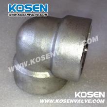 Acier inoxydable forgé en acier coude (3000LB)