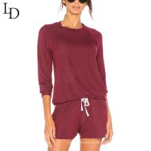 Mode-Design sexy Backless Langarm-Sweatshirt