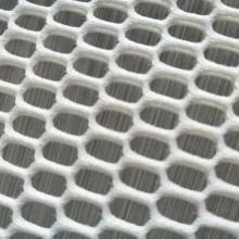 Tissu de filet de tissu de rideau blanc en polyester