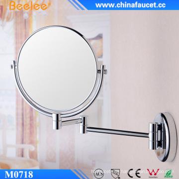 Espejo de maquillaje compacto de pared para mujer con lupa