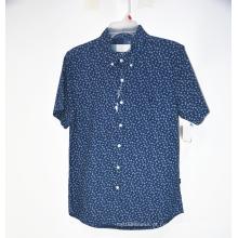 Camisa estampada de manga curta casual fashion
