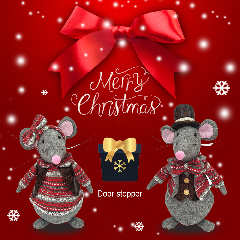 christmas mouse door wedge holder