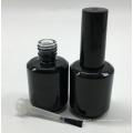 Personnalisé fait vide uv gel noir cosmétique verre vernis à ongles bouteille 15 ml