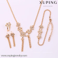 62095-Xuping Moda Mulher Jewlery Set com Banhado a Ouro 18K
