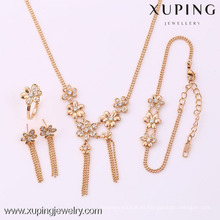 62095-Xuping Fashion Woman Jewlery engastado con oro de 18 quilates plateado