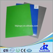 Alfombra de caucho ESD compuesta verde y negra de dos capas
