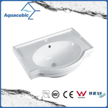 Semi-Recessed Bathroom Ceramic Cabinet Basin Hand Washing Sink (ACB5045A)