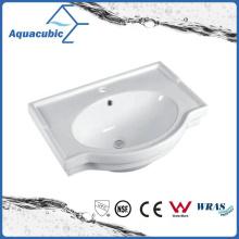 Lavabo semi-empotrado del lavabo de la mano del lavabo del gabinete de cerámica (ACB5045A)