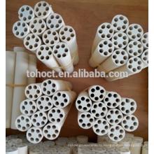 Горячей продажи промышленных несколькими отверстиями Магнезия керамические трубы штанги трубы