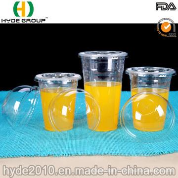 Оптовый Pet/PP Устранимые пластичные чашки с крышкой