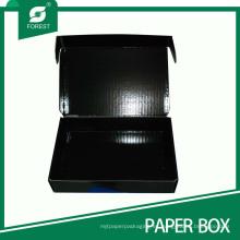 Caja de cartón móvil acanalada negra de la venta caliente