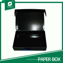 Caixa de papelão ondulada preta quente da venda