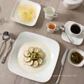 2016 Platos rectangulares de porcelana de cerámica blanca de fábrica de productos duraderos nuevos utilizados en el restaurante