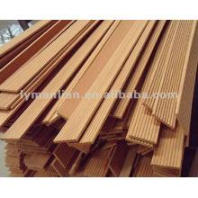 Cadre de meuble en bois plat et demi rond en teck