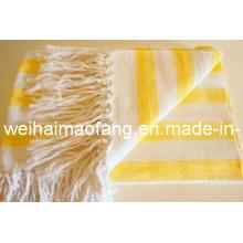 Горячие продажи хлопка бросать / бахромой Хлопковое одеяло