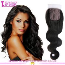Base de seda por atacado barato fechamento filipino cabelo 3 parte de seda com base de renda encerramento