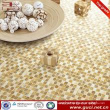 cheap decorative glass mosaic floor tile