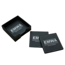 High-Class Gift Set Leather Mat Coaster para a promoção (B4005)