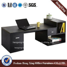 Modern L Shape Walnut Melamine Computer Table (HX-5N085)