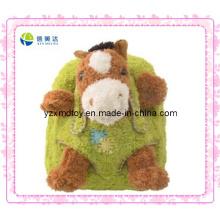 Рюкзак с плюшевыми игрушками для зелёной лошади