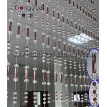 Romántico dormitorio decorativo cristal mixto la cortina del grano