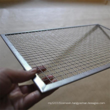 Stainless steel barbecue wire mesh metal food tray