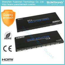 Suporte 3D 1080 P 2.0 V 1 X 8 HDMI Splitter para HDTV DVD PS3