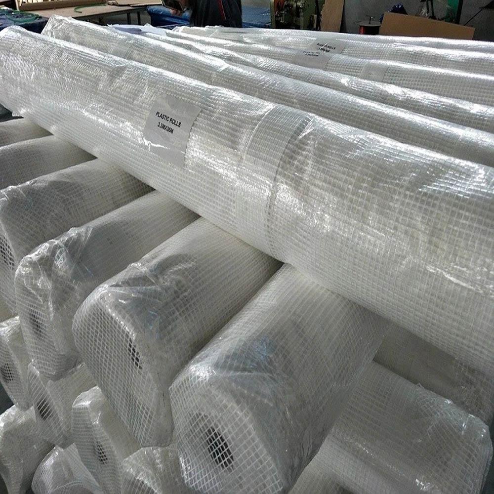 2m x 45m Clear Tarpaulin Scaffold Sheeting Roll