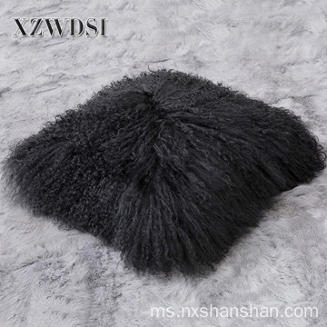 Sofa Square Decorative Real Mongolia Lamb Fur Bedding