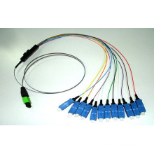 Cabo de ventilação MPO-LC com cabo de remendo MPO
