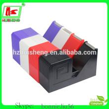 Distribuidor de fitas de papelaria adesivo, dispensador de fita adesiva de novidade colorida HS811