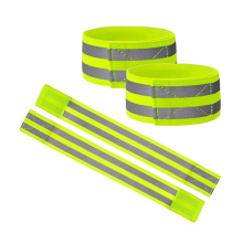 factory price wholesale hi vis reflective safety spandex arm band  strips elastic  running runner walker  cyclin wristband
