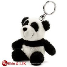 Alta calidad personalizada mini peluche panda llavero